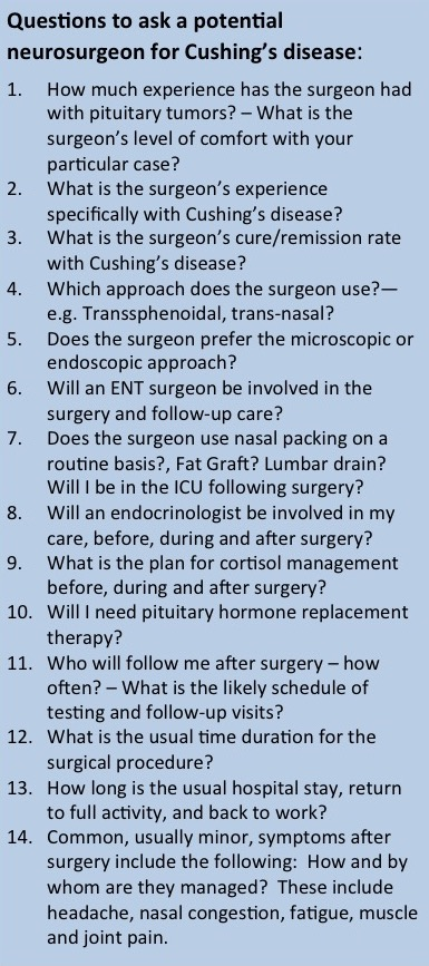 Questions to ask Neurosurgeon